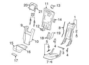 REAR SEAT COMPONENTS for 2012 Volvo XC90
