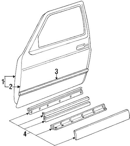 DOOR & COMPONENTS for 1992 Chevrolet S10