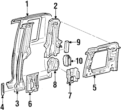 SIDE PANEL for 1996 Toyota T100