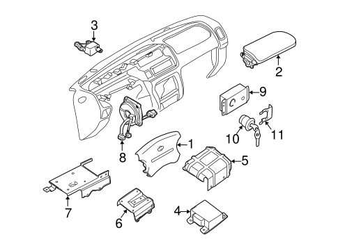 AIR BAG COMPONENTS for 2001 Nissan Frontier