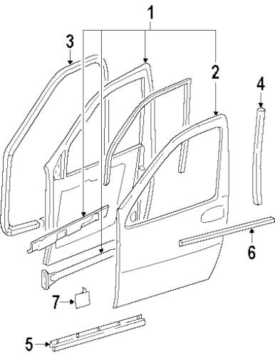 DOOR & COMPONENTS for 1999 Oldsmobile Silhouette (GS)