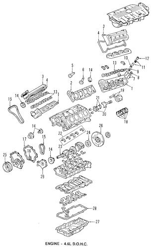 ENGINE for 2002 Cadillac DeVille (Base)