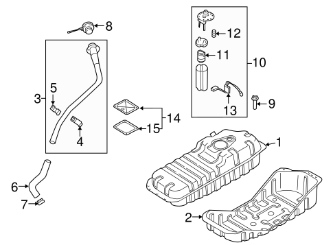 FUEL SYSTEM COMPONENTS for 2004 Kia Sorento