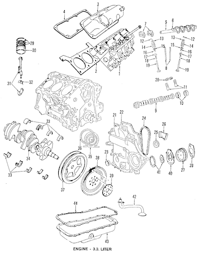 Service manual [1993 Chrysler Le Baron Timing Belt Engine