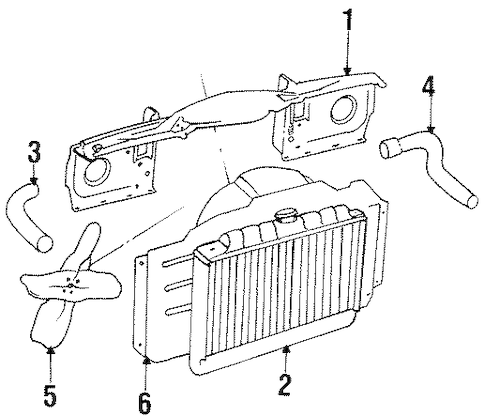 RADIATOR SUPPORT for 1989 Jeep Grand Wagoneer