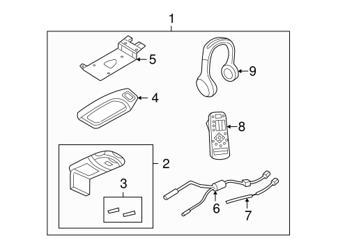 Service manual [2004 Lincoln Aviator Overhead Console