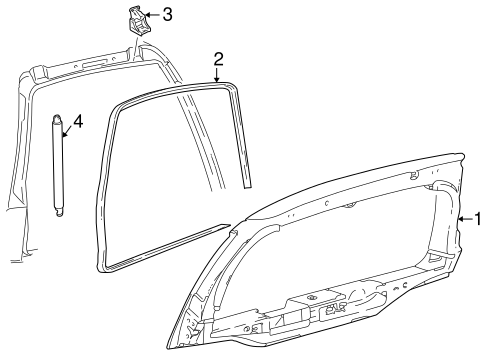 LIFTGATE for 2000 Ford Excursion