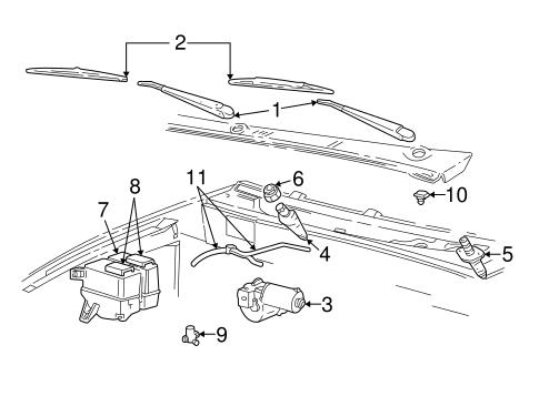 WIPER ARM for 2000 Ford Ranger|1L2Z-17526-DA