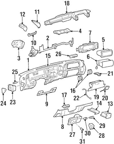 OEM INSTRUMENT PANEL for 1998 Chevrolet Tahoe
