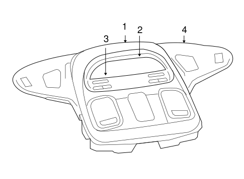 OVERHEAD CONSOLE for 2008 Dodge Ram 1500