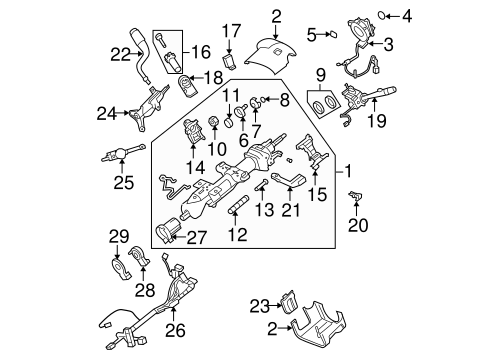 STEERING COLUMN ASSEMBLY for 2007 Chevrolet Avalanche (LTZ)
