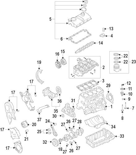 ENGINE for 2012 Volkswagen Jetta