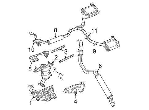 EXHAUST COMPONENTS for 2007 Chrysler Pacifica
