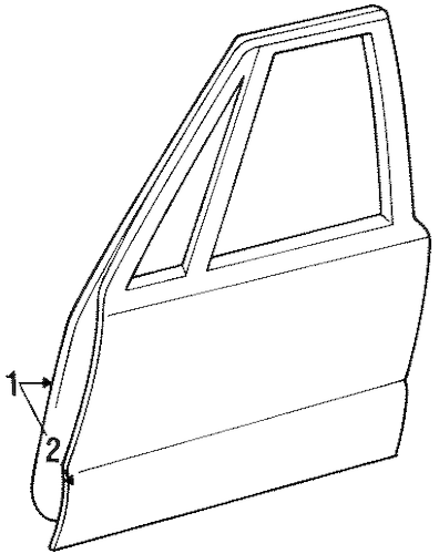 DOOR & COMPONENTS for 1998 Oldsmobile 88