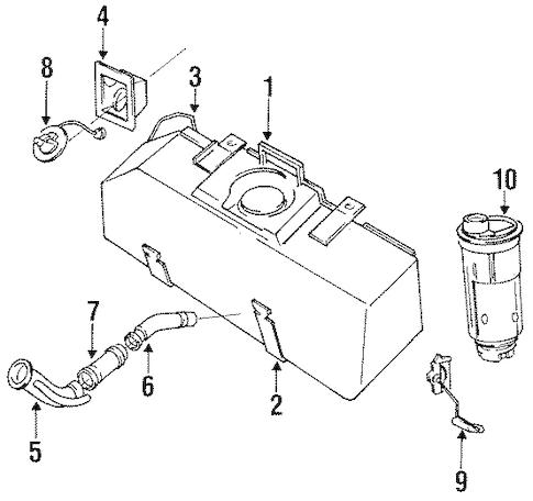 FUEL SYSTEM COMPONENTS for 1996 Dodge Dakota