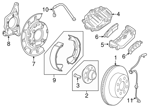 BRAKE COMPONENTS for 2011 Chevrolet Silverado 2500 HD
