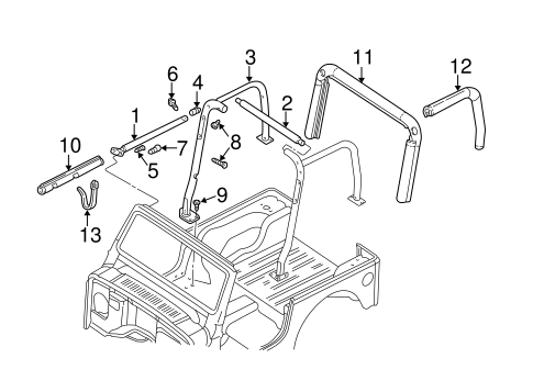 FRAME & COMPONENTS for 1997 Jeep Wrangler