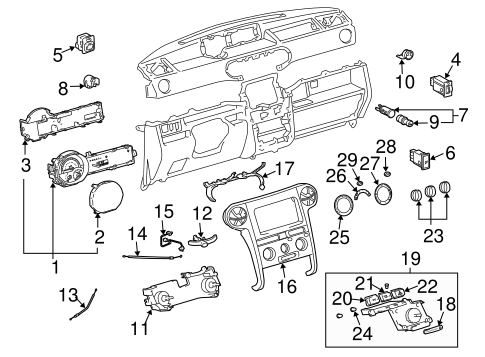 Genuine OEM CLUSTER & SWITCHES Parts for 2005 Scion xB