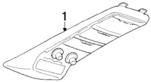OVERHEAD CONSOLE for 1994 Chevrolet K1500 Pickup