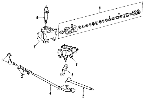 STEERING GEAR & LINKAGE for 1993 Ford F-150
