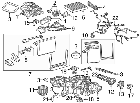 BLOWER MOTOR & FAN Parts for 2014 Chevrolet Silverado 1500