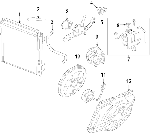 COOLING SYSTEM/COOLING SYSTEM for 2010 Cadillac SRX #1