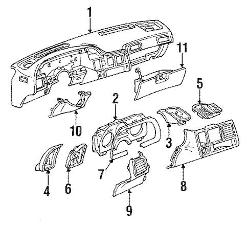INSTRUMENTS & GAUGES for 1992 Pontiac Sunbird