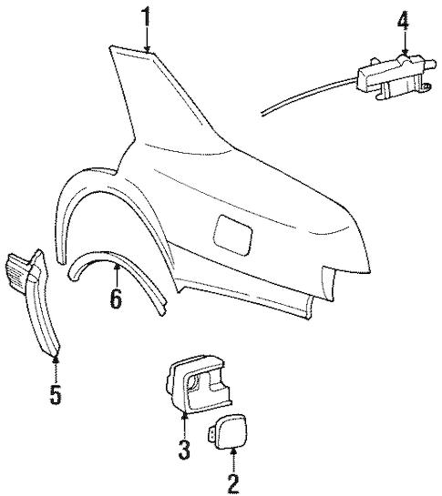 QUARTER PANEL & COMPONENTS for 1996 Cadillac Seville (SLS)