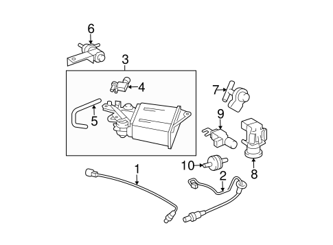 EMISSION COMPONENTS Parts for 2004 Pontiac Vibe
