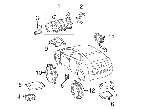 Genuine OEM SOUND SYSTEM Parts for 2010 Toyota Prius Base