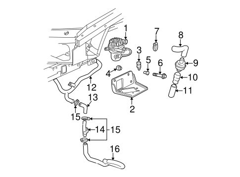OEM EMISSION COMPONENTS for 2003 Chevrolet Monte Carlo