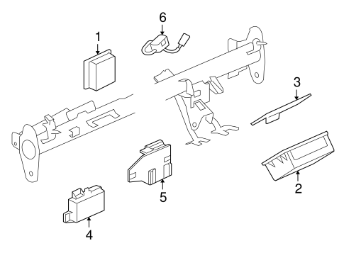 COMMUNICATION SYSTEM COMPONENTS for 2008 Saturn Astra