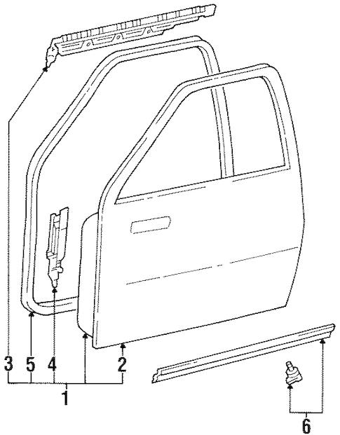 Genuine OEM DOOR & COMPONENTS Parts for 1996 Toyota T100