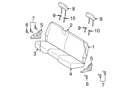 REAR SEAT COMPONENTS for 2004 Dodge Ram 1500