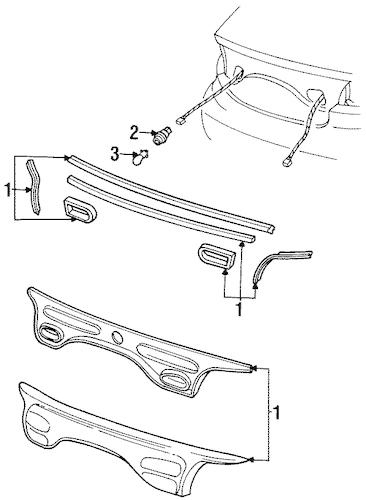 REAR REFLECTOR for 1998 Ford Taurus