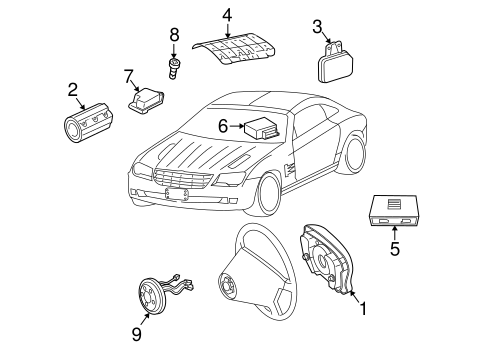AIR BAG COMPONENTS for 2004 Chrysler Crossfire