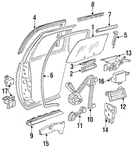 LOCK & HARDWARE for 1996 Chevrolet Impala