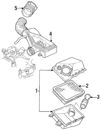 Service manual [Air Cleaner Shroud In A 1993 Lincoln Town