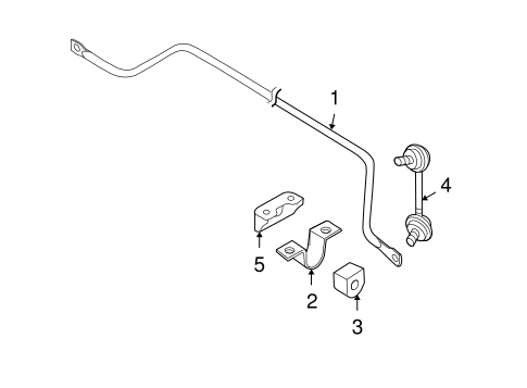 STABILIZER BAR & COMPONENTS for 2012 Nissan Maxima
