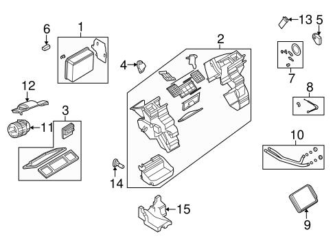CONDENSER, COMPRESSOR & LINES Parts for 2002 Saturn L200