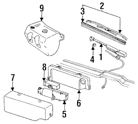 OEM REAR WIPER COMPONENTS for 1999 GMC Yukon