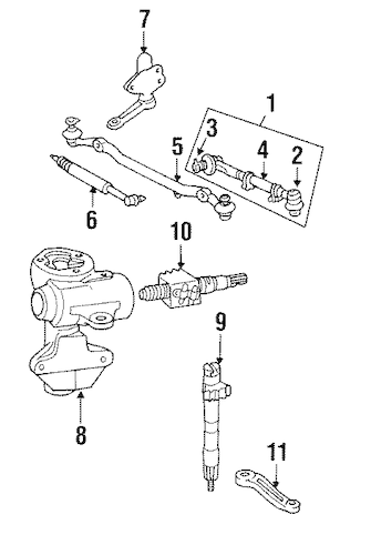 STEERING GEAR & LINKAGE for 1994 Toyota Pickup
