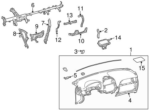 Genuine OEM INSTRUMENT PANEL Parts for 2006 Toyota Sienna