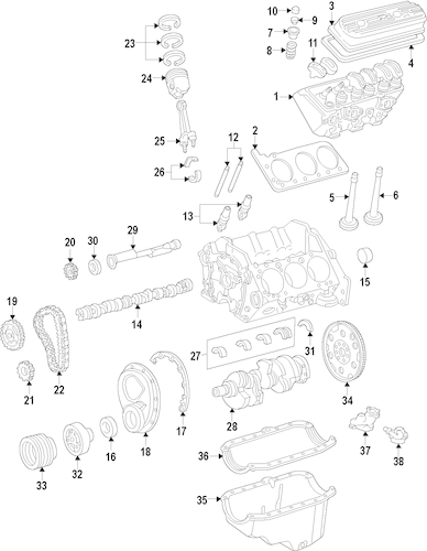 ENGINE for 2012 Chevrolet Express 1500 (Base)