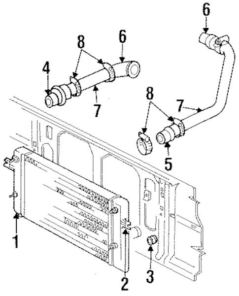 INTERCOOLER for 1995 Dodge Ram 2500