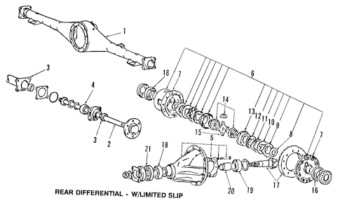 DIFFERENTIAL for 1989 Dodge Raider