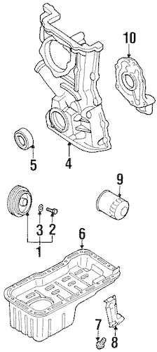 OIL FILTER for 1998 Nissan Sentra|15208-55Y0A