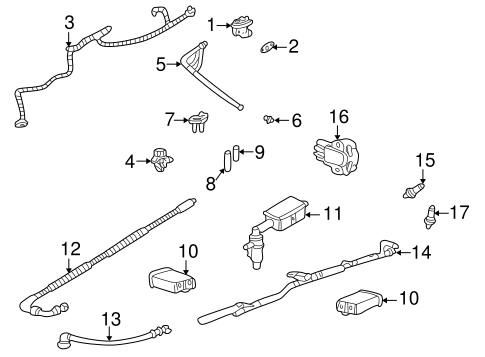 EMISSION COMPONENTS for 2004 Mercury Mountaineer