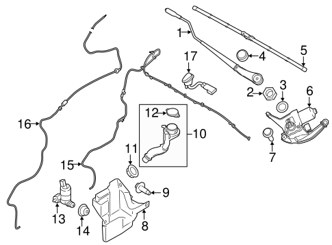 WIPER & WASHER COMPONENTS for 2014 Ford Transit Connect