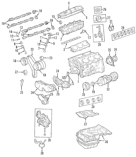 Genuine OEM MOUNTS Parts for 2006 Toyota Sienna LE